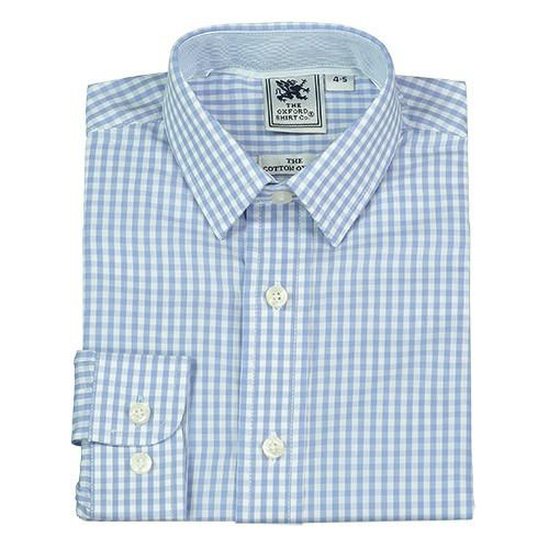 Blue Gingham Shirt - souzu.co.uk
