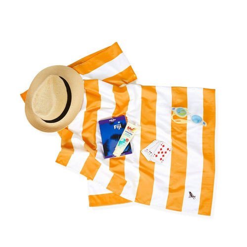 Cabana Ipanema Orange Large Towel - souzu.co.uk