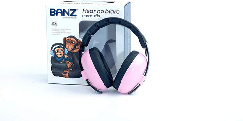 Banz Bubzee Baby Hearing Protection Earmuffs Pink - souzu.co.uk