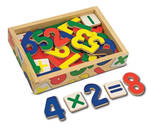 Magnetic Wooden Numbers - souzu.co.uk