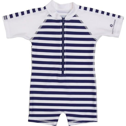 Navy Stripe One Piece Suit - souzu.co.uk