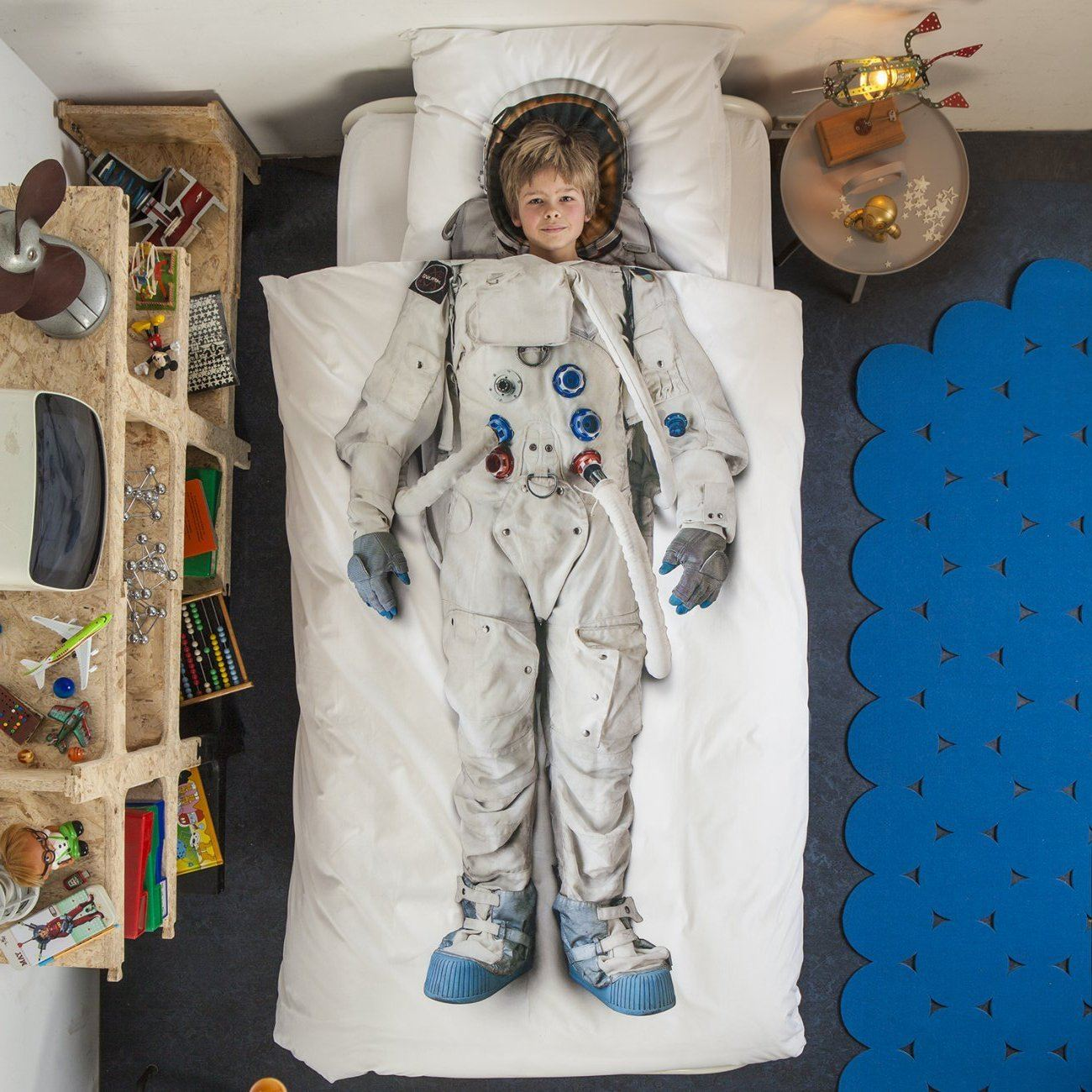 Astronaut Duvet Cover & Pillow Case - souzu.co.uk