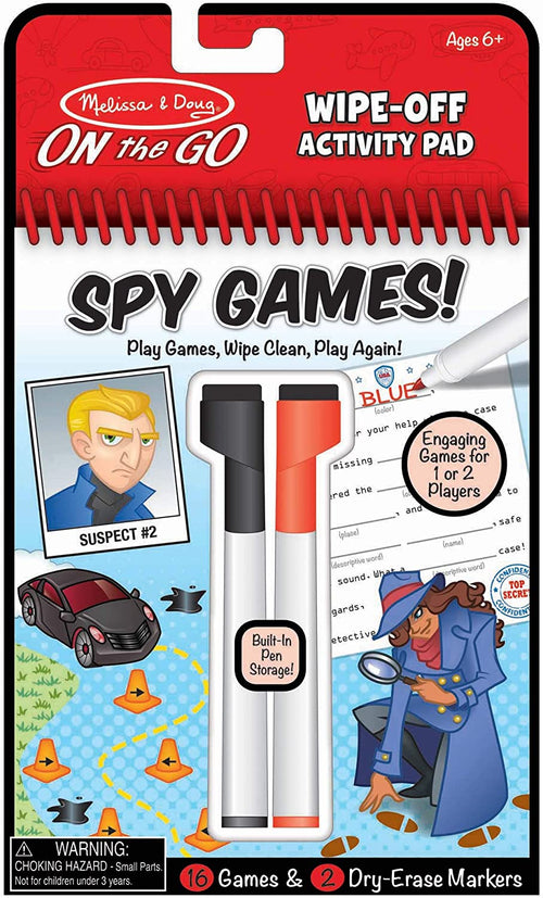 Wipe-Off Activity Pad - Spy