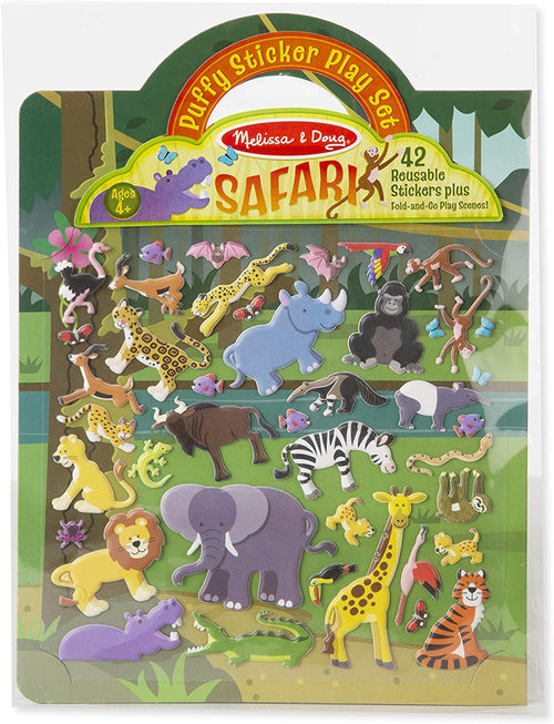 Reusable Puffy Stickers Safari