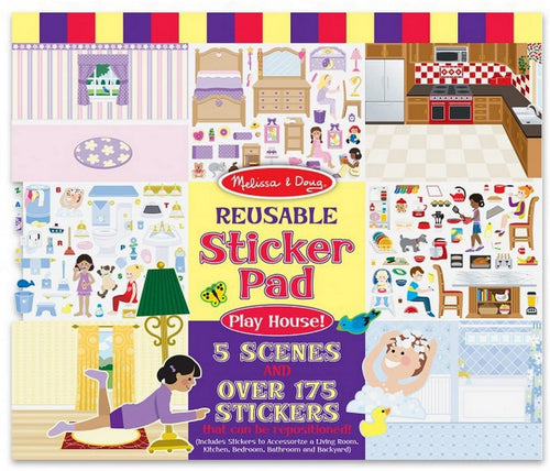 Reusable Sticker Pad Play House!