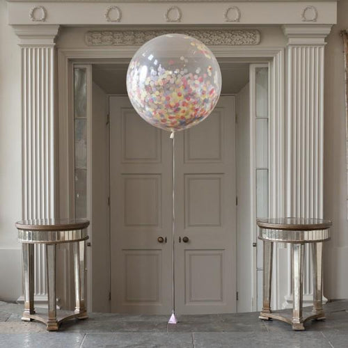 Pastel Rainbow Giant Confetti Balloon