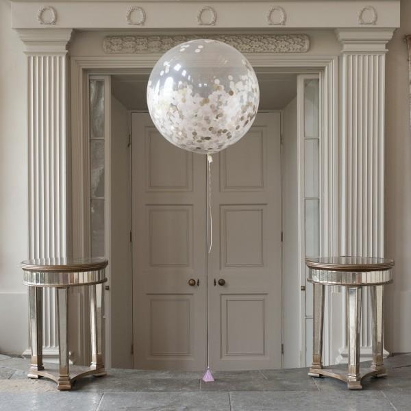 Baby Pink Giant Confetti Balloon - souzu.co.uk