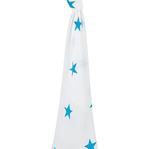 Brilliant Blue Classic Single Swaddle - souzu.co.uk