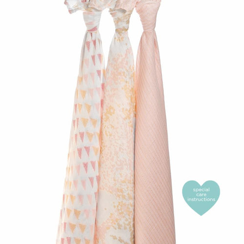 Metallic Primrose Birch Swaddle - Pack of 3