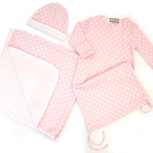 Polka Dot Drawstring Nightie Giftset - souzu.co.uk