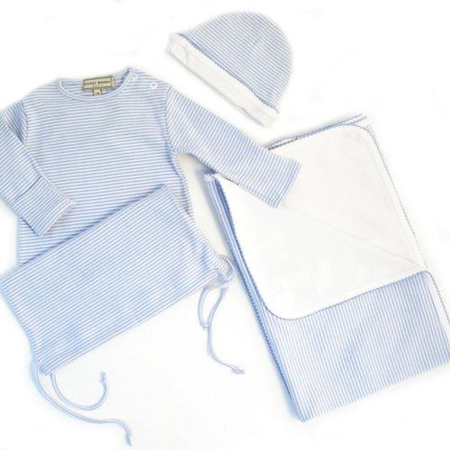 Sky Blue Drawstring Nightie Giftset - souzu.co.uk