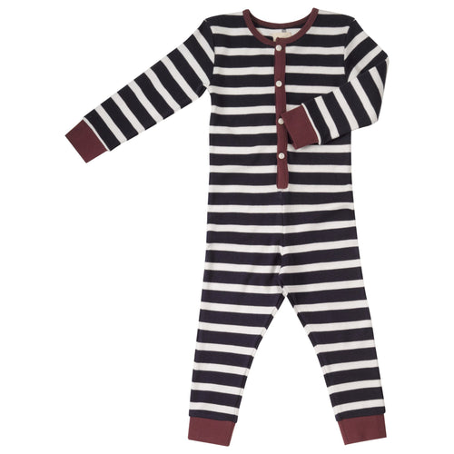 Navy Stripe Onesie - souzu.co.uk