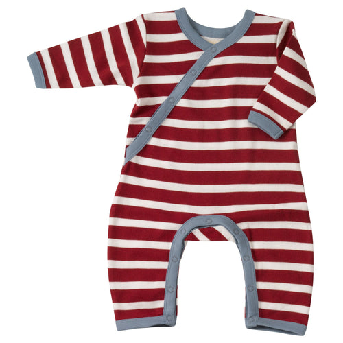 Red Stripe Romper - souzu.co.uk