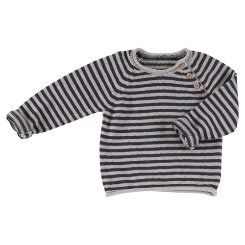 Navy Striped Jumper - souzu.co.uk
