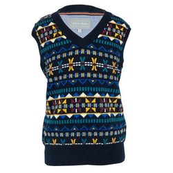 Fairisle Knitted Tank Top - souzu.co.uk
