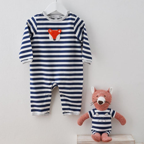 Crochet Fox Babygrow - souzu.co.uk