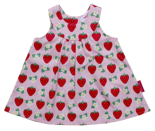 Strawberry Dress with Matching Panties - souzu.co.uk