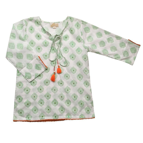 Kerala Green Kaftan - souzu.co.uk