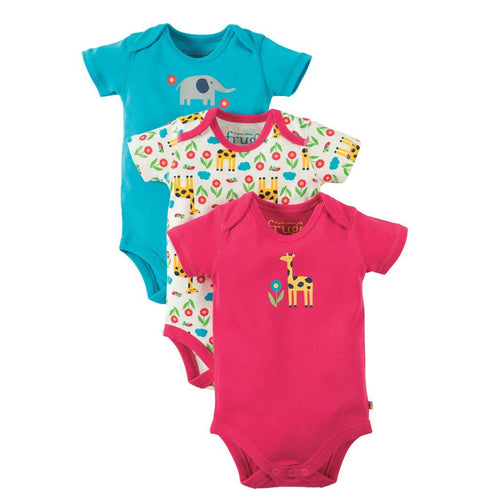 Giraffe Bodysuit Pack of 3 - souzu.co.uk