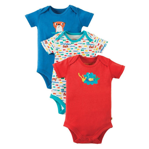Otter Bodysuit Pack of 3 - souzu.co.uk