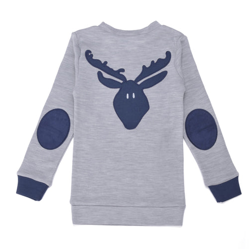 Light Grey Moose Merino Jumper