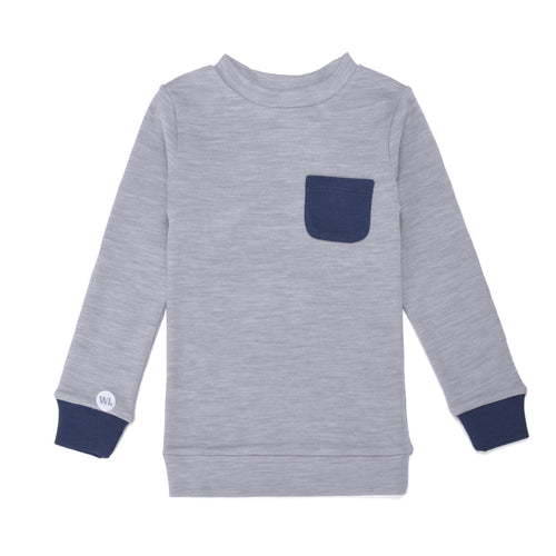 Light Grey Moose Merino Jumper - souzu.co.uk