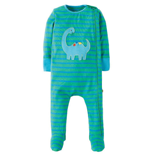 Dino Zipped Babygrow - souzu.co.uk
