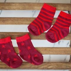 Red Stars and Stripes Socks - 2 Pack
