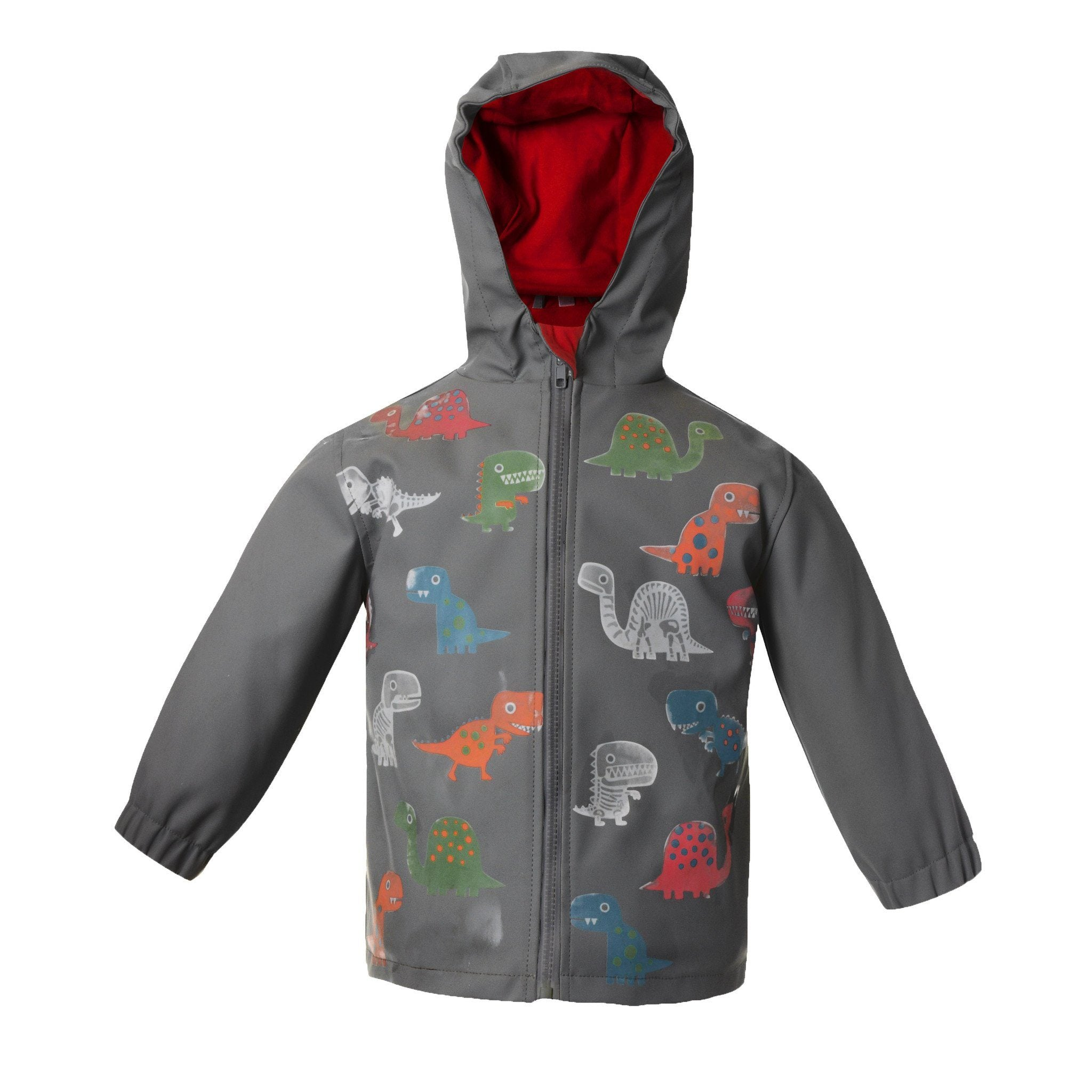 Dino Colour Changing Raincoat - souzu.co.uk