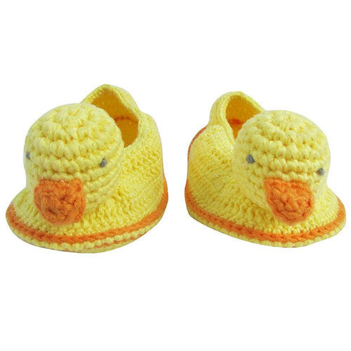 Crochet Baby Duck Booties