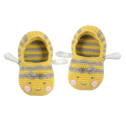 Crochet Baby Bee Booties 0-6 months