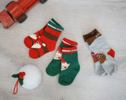 Christmas Socks pack of 3 - souzu.co.uk