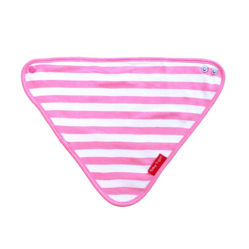 Pink and White Dribble Bib