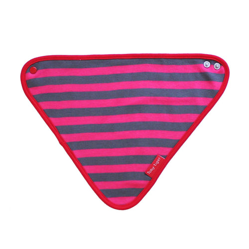 Pink and Grey Dribble Bib