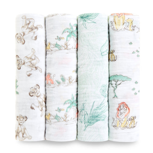 The Lion King Swaddle Pack of 4 - souzu.co.uk