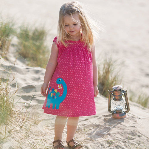 Little Lola Dino Dress - souzu.co.uk