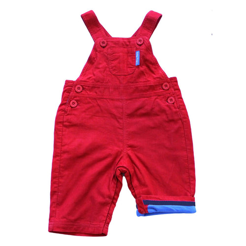 Red Cord Dungarees - souzu.co.uk