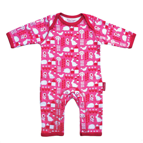 Pink Garden Sleepsuit - souzu.co.uk