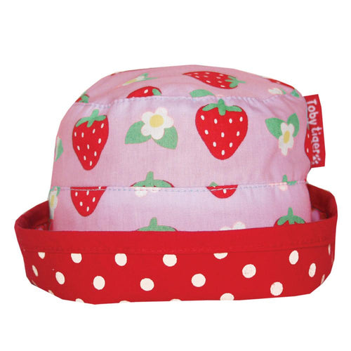 Strawberry Reversible Sun Hat - souzu.co.uk