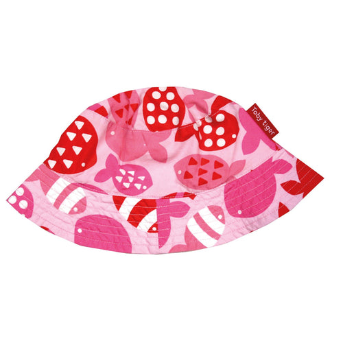 Pink Fish Reversible Sun Hat