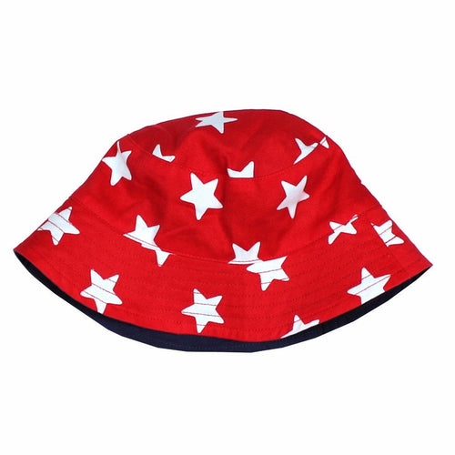 Red Star Reversible Sun Hat - souzu.co.uk