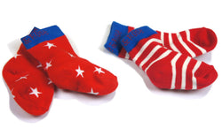 Red and White Socks - Pack of 2 - souzu.co.uk