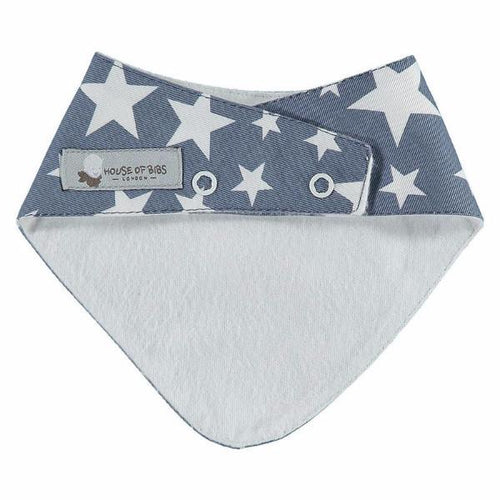 Cowboy Stars Denim Dribble Bib - souzu.co.uk