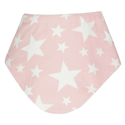 Cowboy Stars Light Pink Dribble Bib - souzu.co.uk
