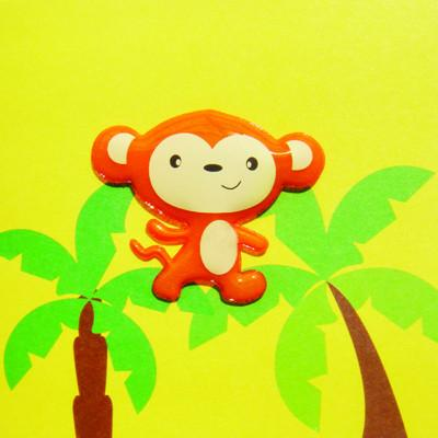 Magnetic Monkey Card