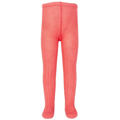 Cable Rib Tights Pink - souzu.co.uk