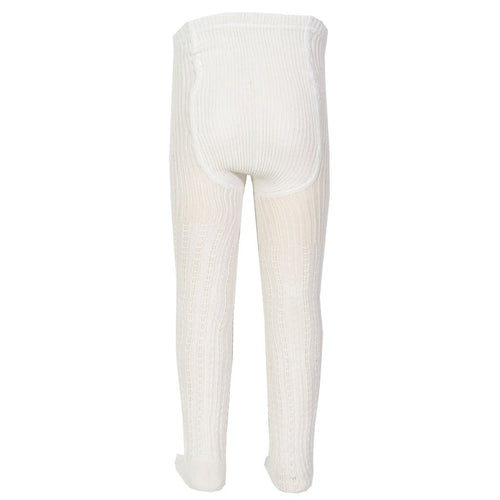 Cable Rib Tights Cream - souzu.co.uk
