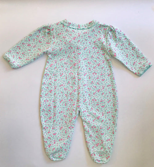Mint Dusty Rose Babygrow - souzu.co.uk