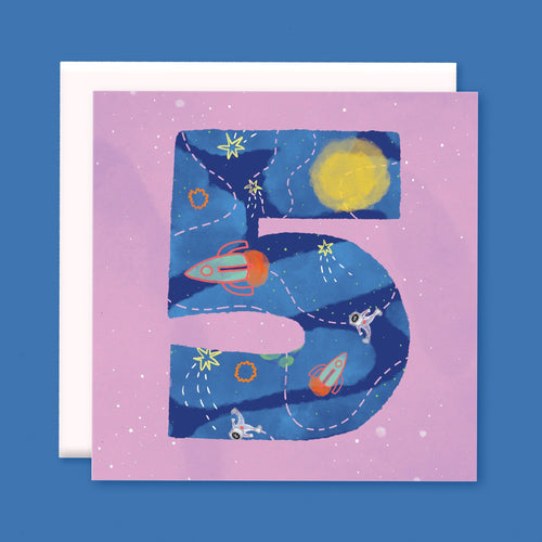 Age 5 Birthday Card - souzu.co.uk