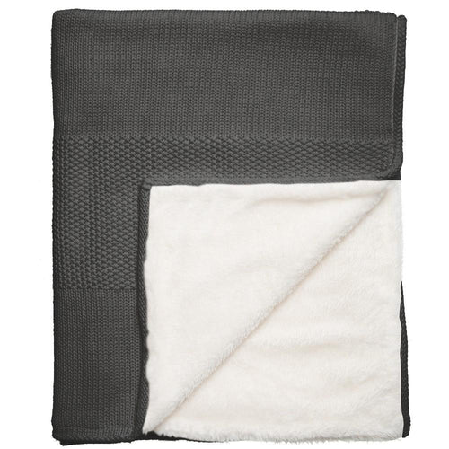 Charcoal Lined Blanket - souzu.co.uk